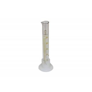 Мерный цилиндр стекло 25мл на пластиковом основании